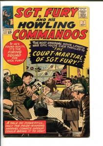 SGT FURY AND HIS HOWLING COMMANDOS-#7-1964-MARVEL-KIRBY ART-WWII-vg