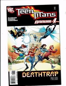 Lot of 6 Teen Titans+Titans DC Comic Books #1 Annual+11 12 13 14 15 KS5