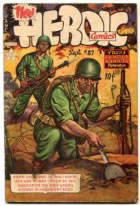 Heroic Comics #87 1953- landmine cover- FRAZETTA vg