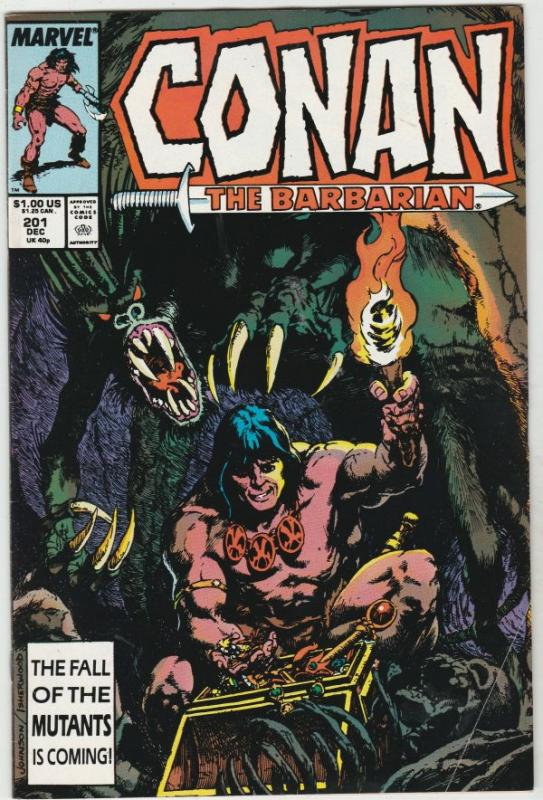 Conan the Barbarian #201 (Dec-87) VF High-Grade Conan the Barbarian