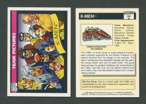 1990 Marvel Comics Card  #139 (X-Men Team) / NM-MT