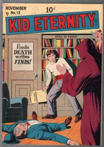Kid Eternity #12 1948-Quality-Hooded menace-horror-Gen Custer-FN-