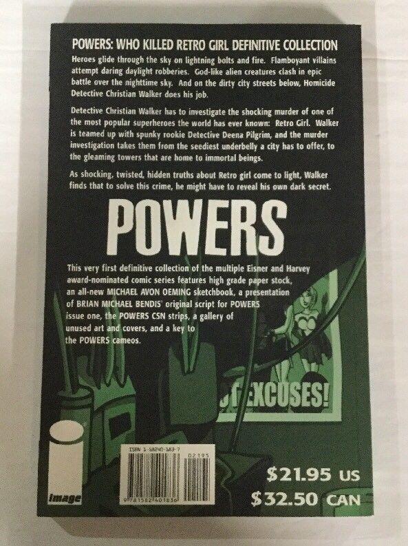 Powers Who Killed Retro Girl Tpb Nm Near Mint Image Comics Bendis