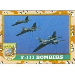 1991 Topps Desert Storm F-111 BOMBERS #36
