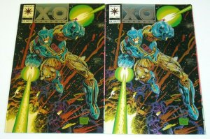 X-O Manowar #0 VF/NM + rare ivory variant - Valiant Comics 1993 set lot