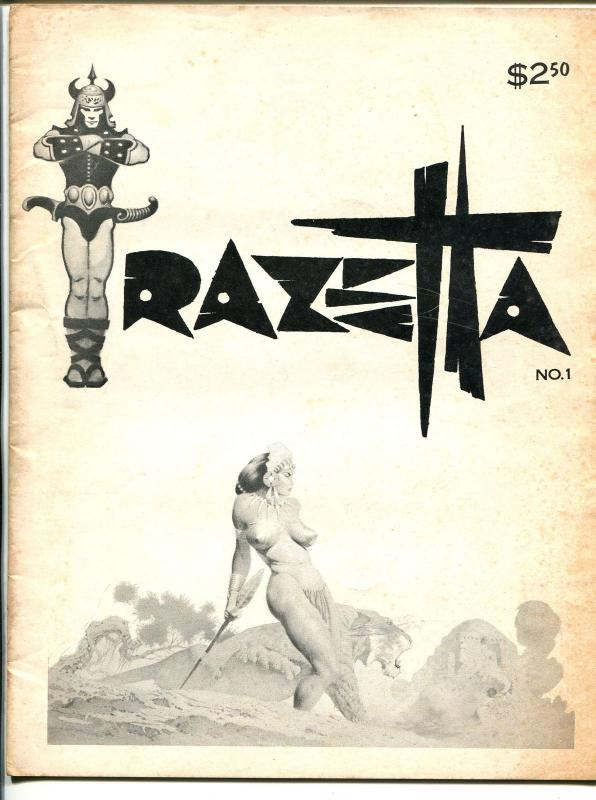 Frazetta #1 1969-1st issue-Thunda comic strip-full page illustrations-pix-VG+