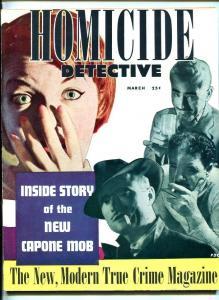 HOMICIDE DETECTIVE #1 3/51-PULP-VIOLENCE-SOUTHERN STATES PEDIGREE-vf minus