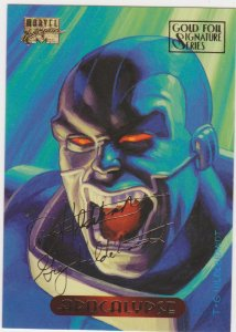 1995 Marvel Masterpieces Gold Foil Signature Series #1 Apocalypse