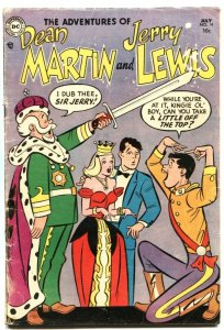 ADVENTURES OF DEAN MARTIN AND JERRY LEWIS #14-1954-KNIGHTHOOD COVER & STORY