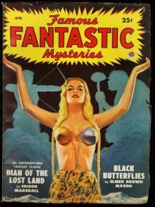 FAMOUS FANTASTIC MYSTERIES 1949 APR-VIRGIL FINLAY PULP FN/VF