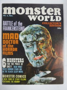 MONSTER WORLD#1(1964) VG Wally Wood!MUMMY!Chris Lee!