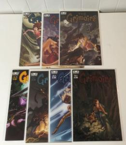 the Grimoire #1-7 NM complete series Set Lot Run