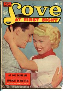 Love At First Sight #21 1953-Ace-spicy art-headlights-lingerie panels-VG
