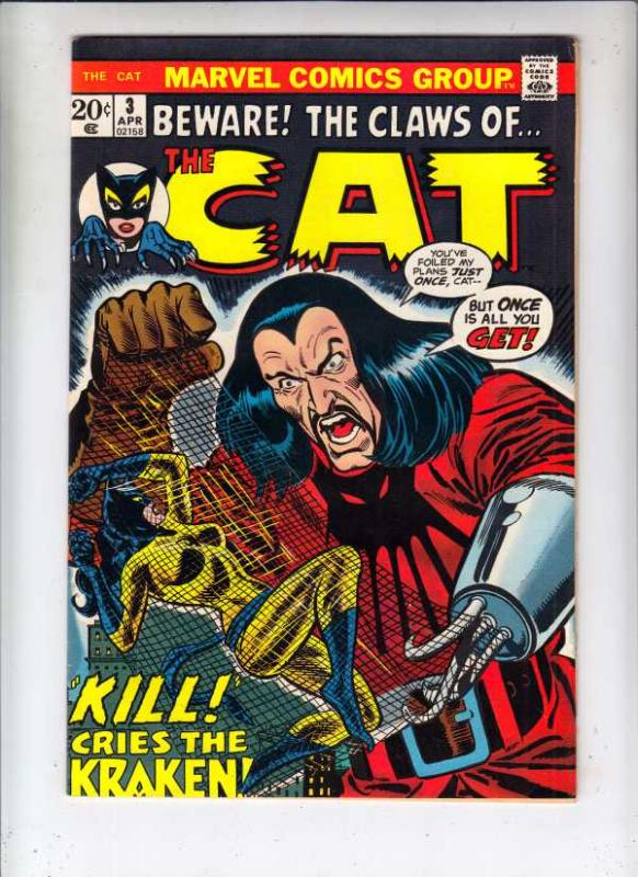 Claws of the Cat, Beware The #3 (Apr-73) FN- Mid-Grade Hellcat
