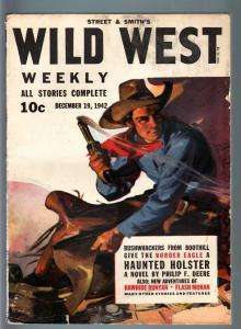 WILD WEST WEEKLY 12/19/1942-WESTERN PULP-BORDER EAGLE VG