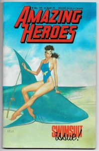 Amazing Heroes #115 Swimsuit Issue | Nowlan WW Cvr (Fantagraphics, 1987) FN-