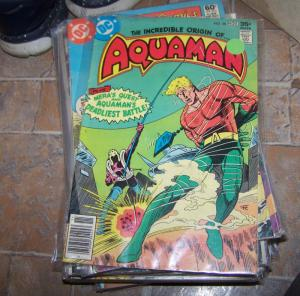 aquaman # 58 origin issue + mera quest +the fisherman