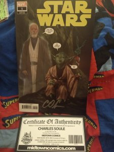 Starwars #1 Cover P Variant Edition Signed with COA NM