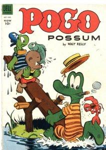 POGO POSSOM #14-1953-WALT KELLY ART--SWAMP COVER-DELL-10 CENT ISSUE