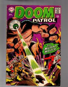 DOOM PATROL 115 VERY GOOD PLUS  November 1967