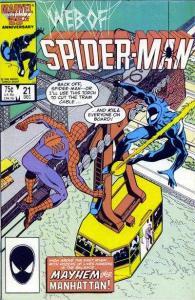 Web of Spider-Man (1985 series) #21, VF (Stock photo)