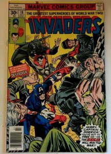 Invaders #18 Marvel 1977 VF- Bronze Age 1st Printing Comic Book