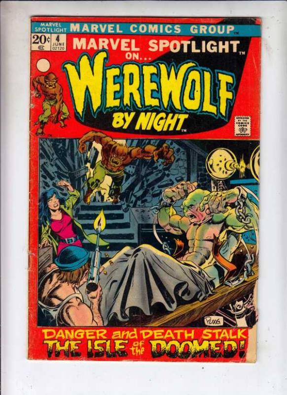 Marvel Spotlight on Werewolf by Night #4 (Jun-72) VG Affordable-Grade Werewolf