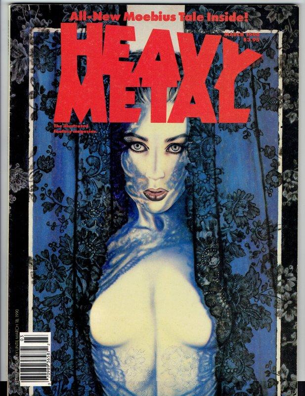 Heavy Metal Magazine March 1990 -Moebius!