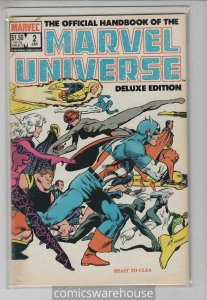OFFICIAL HANDBOOK OF THE MARVEL UNIVERSE (1983 MARVEL) #2 FN+ A30373