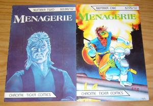 Menagerie #1-2 FN complete series - donna barr - chrome tiger comics anthology