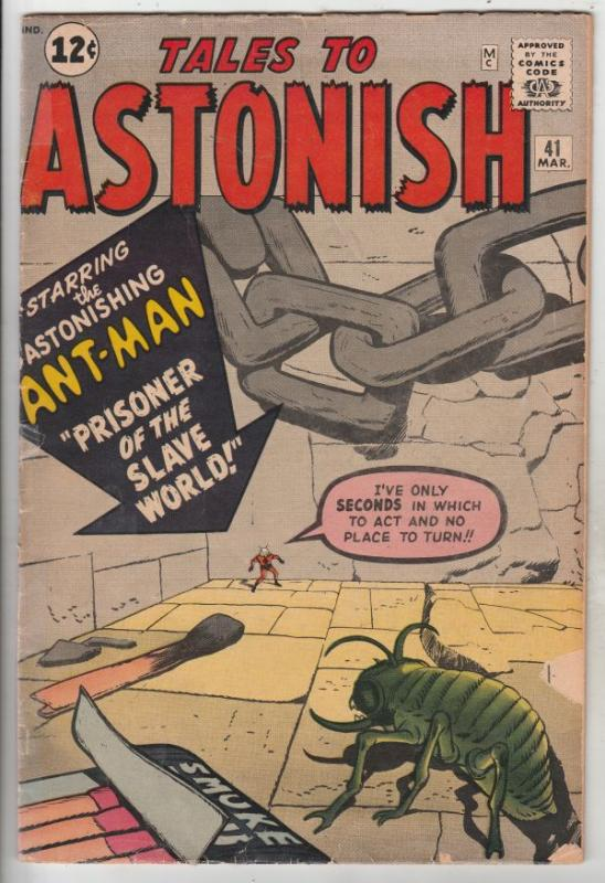 Tales to Astonish #41 (Mar-63) VG Affordable-Grade Ant-Man