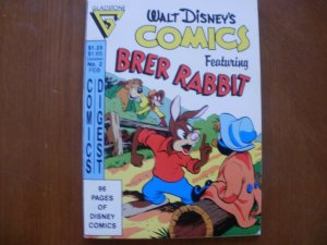 96-Page Walt Disney COMICS DIGEST #2 (1987) Brer Rabbit Tar Baby Duck Mouse Hook
