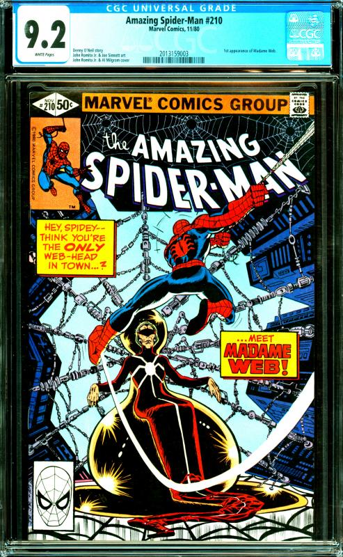 Amazing Spider-Man #210 CGC Graded 9.2 1st Appearance of Madame Web