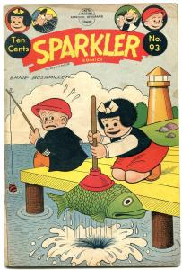 Sparkler Comics #93 1950- Nancy & Sluggo- Plunger cover- Golden Age VG/F
