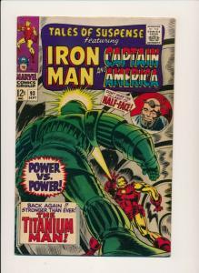 MARVEL TALES OF SUSPENSE ft. Cpt. America & Iron MAN #93 FINE (PF693)
