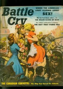 Battle Cry Pulp Magazine October 1957- Judy O'Day -Liberation of Paris VG-