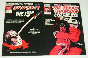 Samurai Funnies #1-2 FN complete series  texas chainsaw massacre friday the 13th