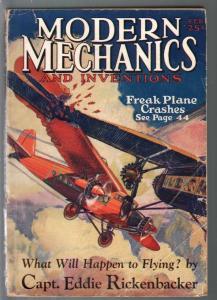 Modern Mechanics and Inventions 2/1929-Fawcett-ERB-Capt Rickenbacker-VG-
