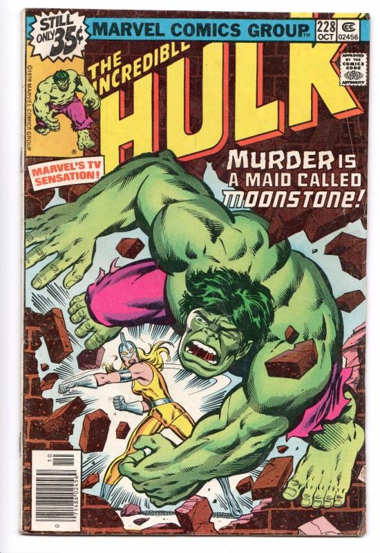 Incredible Hulk #228 - Moonstone (Marvel, 1978) VG/FN
