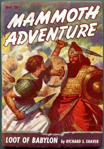 Mammoth Adventure Pulp May 1947- Richard S Shaver VG/FN