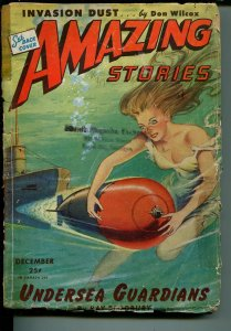 Amazing Stories 12/1944-Ziff-Davis-pulp sci-fi-Good Girl Art-Ray Bradbury-G-