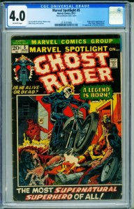 Marvel Spotlight #5 CGC 4.0 1st Ghost Rider NATIONAL DIAMOND variant 2114737006