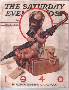 Saturday Evening Post 12/30/1939-Lyendecker cover-complete magazine-VG