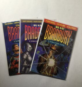 Ray Bradbury Chronicles 1 2 3 Lot Run Set Near Mint Nm Bantam Spectra Books
