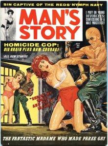 MAN'S STORY-MAY-1963-NAZI BONDAGE-WEIRD MENACE-HORROR-PULP-CHEESECAKE