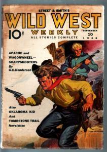WILD WEST WEEKLY 9/10/1938-WESTERN PULP-OKLAHOMA TRAIL VG+