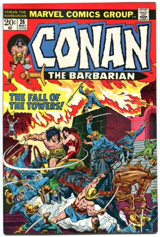 CONAN the BARBARIAN #25 26 27 28 29 30, VF, Robert Howard, Buscema, Chan 1970
