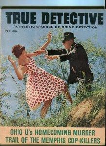 TRUE DETECTIVE-FEB/1963-HOMECOMING MURDER-COP-KILLERS-TEXAS RANGERS-N.J.  G/VG