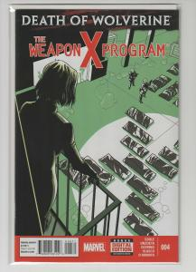 DEATH OF WOLVERINE WEAPON X PROGRAM (2014 MARVEL) #4 NM- A75519
