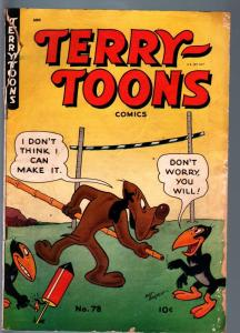 TERRY-TOONS #8-FIREWORKS COVER-MIGHTY MOUSE-HECKLE & JECKLE-ST JOHN PUB-195 G